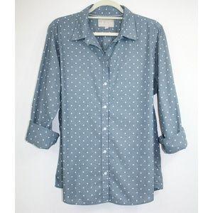 🆕️ Banana Republic Polka Dot Soft Wash Shirt